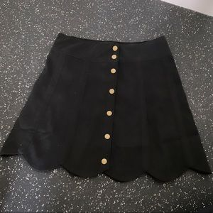 Lucky Penny High Waist Skirt with Buttons